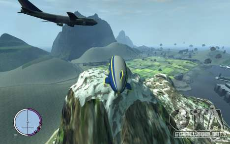 Dirigível para GTA 4 vista de volta