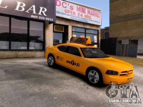 Dodge Charger NYC Taxi V.1.8 para GTA 4 vista interior