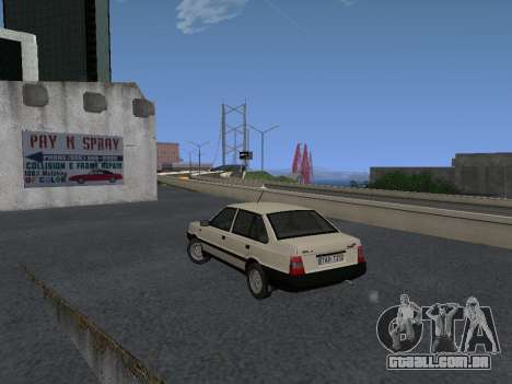 FSO Polonez Atu 1.4 GLI 16v para GTA San Andreas vista traseira