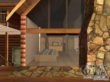 Villa em San Fierro para GTA San Andreas sexta tela