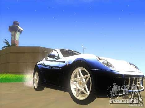 Ferrari 599 GTB Fiorano para GTA San Andreas esquerda vista