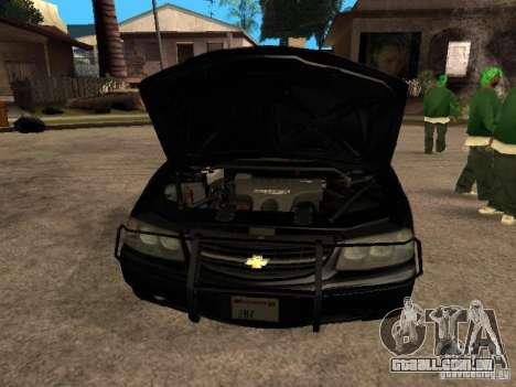 Chevrolet Impala Undercover para GTA San Andreas vista direita