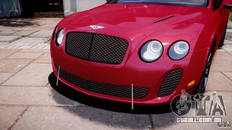 Bentley Continental SS v2.1 para GTA 4 vista superior