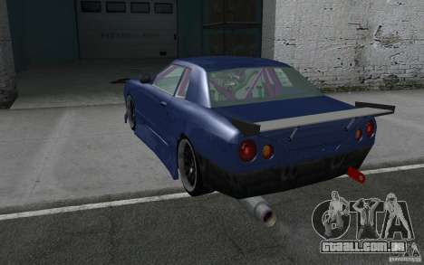Elegy MS R32 para GTA San Andreas vista superior