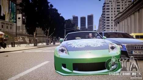 Nissan 350Z Underground 2 Style para GTA 4 vista lateral