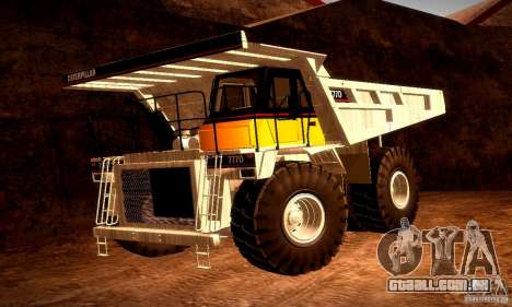 Caterpillar 777D para GTA San Andreas vista superior