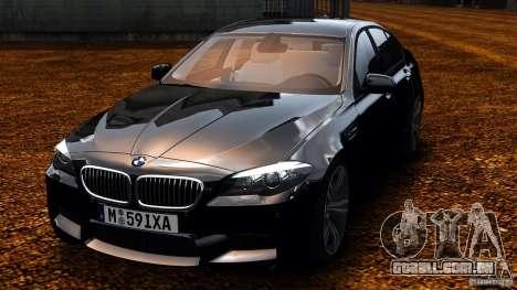 BMW M5 F10 2012 para GTA 4 vista de volta