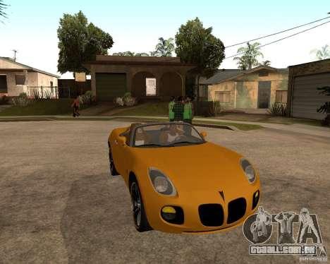 Pontiac Solstice GXP para GTA San Andreas esquerda vista