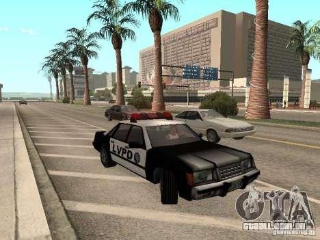LVPD Police Car para GTA San Andreas esquerda vista