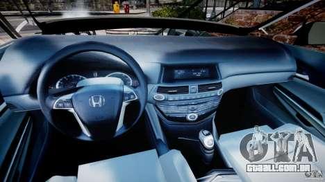 Honda Accord 2009 para GTA 4 vista de volta