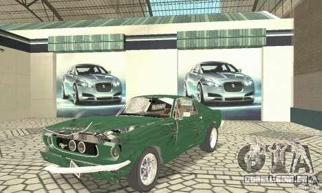 Ford Mustang Fastback 1967 para vista lateral GTA San Andreas