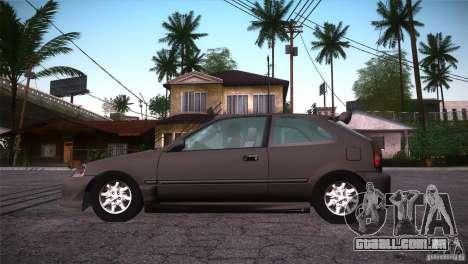 Honda Civic Tuneable para GTA San Andreas vista superior