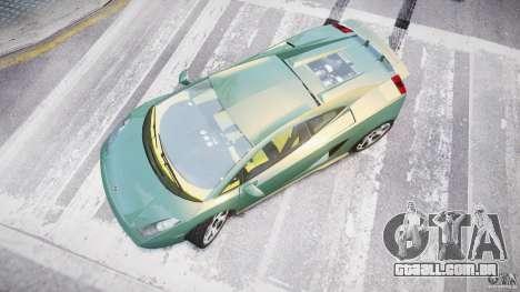 Lamborghini Gallardo para GTA 4 vista direita
