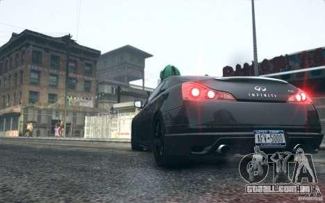 Infiniti G37 Coupe Carbon Edition v1.0 para GTA 4 vista direita