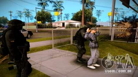 S.W.A.T. para GTA San Andreas terceira tela