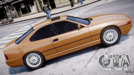 BMW 850i E31 1989-1994 para GTA 4 esquerda vista