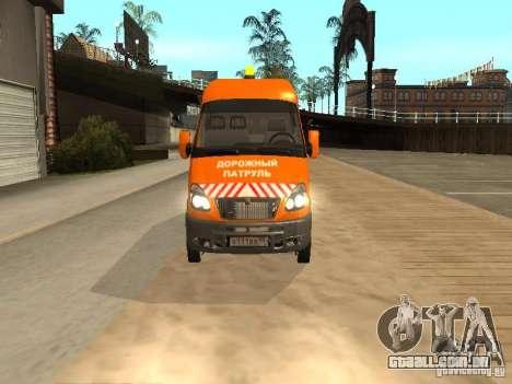 Gazela 2705 highway patrol para GTA San Andreas traseira esquerda vista