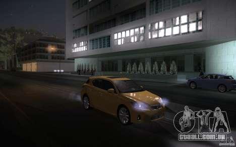 Lexus CT200H 2011 para GTA San Andreas vista interior