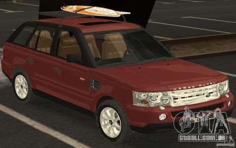 Land Rover Range Rover 2007 para GTA San Andreas traseira esquerda vista