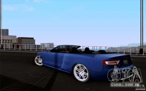 Audi S5 Cabriolet 2010 para GTA San Andreas esquerda vista