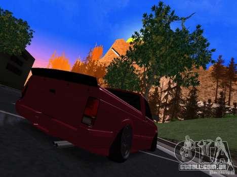 GMC Syclone Drift para GTA San Andreas traseira esquerda vista