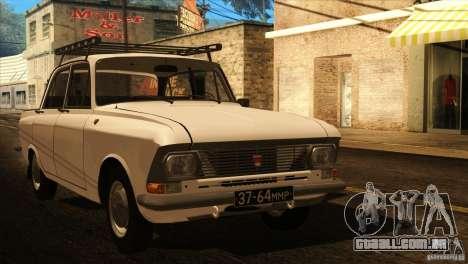 Moskvich 412 v 2.0 para GTA San Andreas