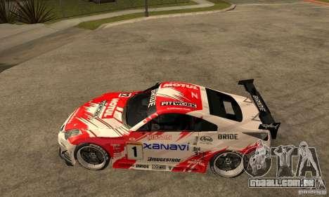 Nissan 350Z Xanavi para GTA San Andreas esquerda vista