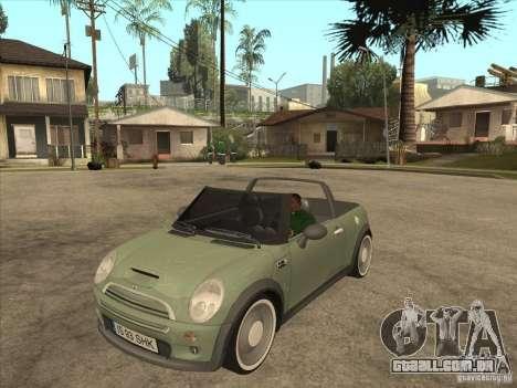 Mini Cooper S Cabrio para GTA San Andreas esquerda vista