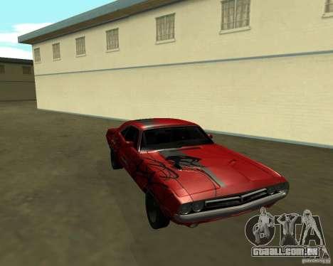Dodge Challenger 1971 TeamGo para GTA San Andreas vista direita
