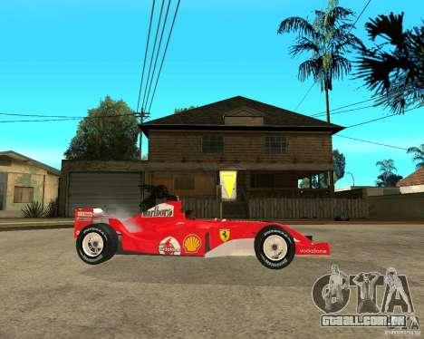 Ferrari F1 para GTA San Andreas vista direita
