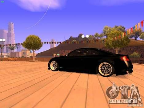 Infiniti G35 V.I.P para GTA San Andreas traseira esquerda vista