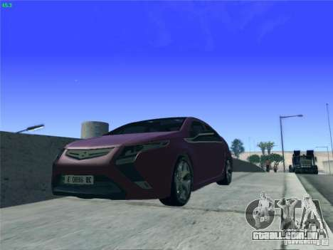 Opel Ampera 2012 para GTA San Andreas vista interior