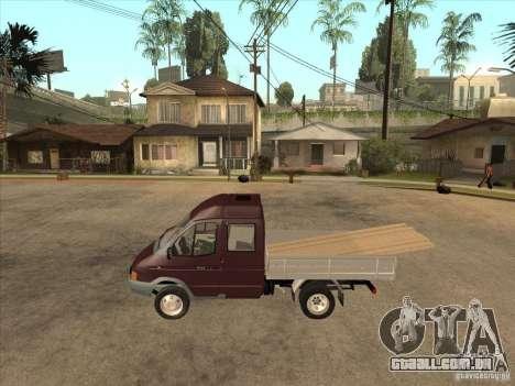 GÁS 33023 para GTA San Andreas esquerda vista