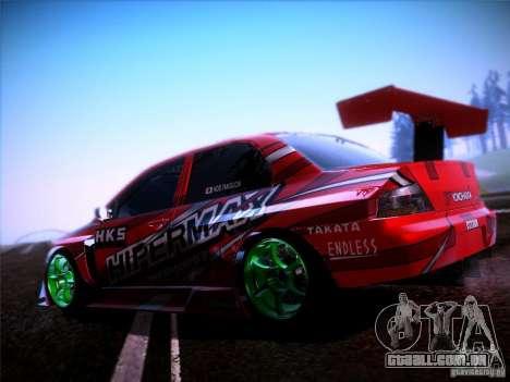 Mitsubishi Lancer Evolution 9 Hypermax para GTA San Andreas esquerda vista