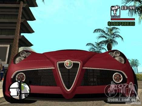 Alfa Romeo 8C Competizione v.2.0 para GTA San Andreas vista direita