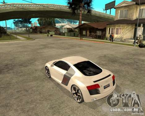 Audi R8 light tunable para GTA San Andreas esquerda vista