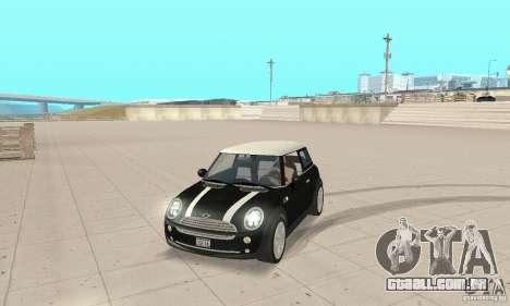 Mini Cooper Hardtop para GTA San Andreas