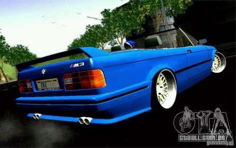 BMW E30 M3 Cabrio para GTA San Andreas esquerda vista