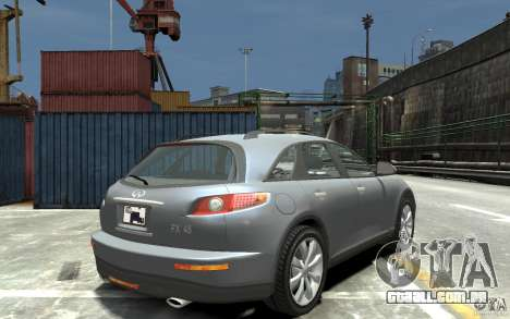Infiniti FX45 para GTA 4 vista direita
