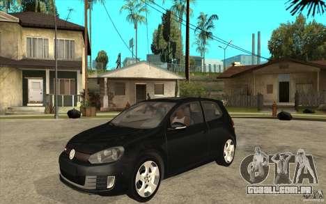 VW Golf 6 GTI para GTA San Andreas