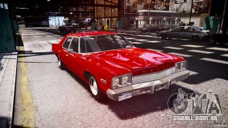 Dodge Monaco 1974 stok rims para GTA 4 vista de volta