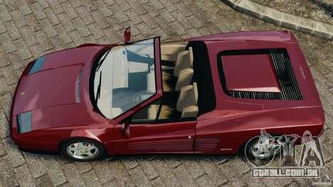 Ferrari Testarossa Spider custom v1.0 para GTA 4 vista direita