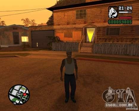 CJ Gopnik para GTA San Andreas segunda tela