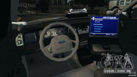 Ford Crown Victoria Police Unit [ELS] para GTA 4 vista de volta