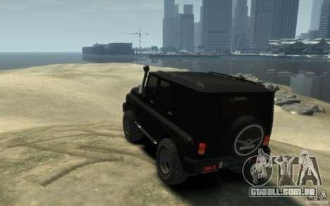 UAZ Hunter final para GTA 4 traseira esquerda vista