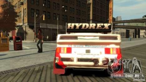 Ford RS200 Evolution Rallycross para GTA 4 traseira esquerda vista
