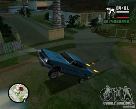 Capacidade de levantar o carro para o buck para GTA San Andreas quinto tela
