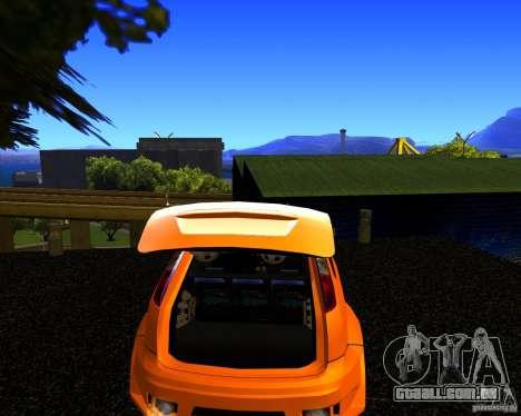 Ford Focus ST Racing Edition para GTA San Andreas traseira esquerda vista