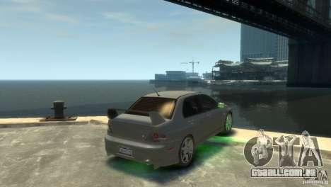 Mitsubishi Lancer EVOLUTION VIII para GTA 4 esquerda vista