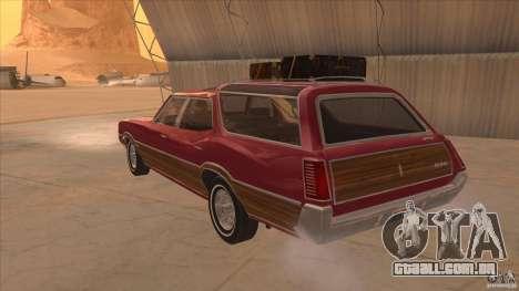 Oldsmobile Vista Cruiser 1972 para GTA San Andreas traseira esquerda vista